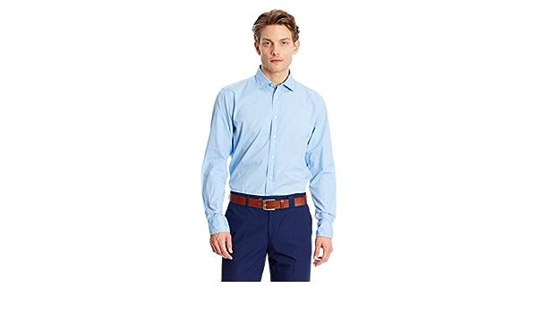 Pedro del Hierro Camisa Hombre Azul Claro M: Amazon.es: Ropa ...