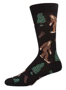 Socksmith Men's Socks Bigfoot Crew Black 1pair, one size (10-13)