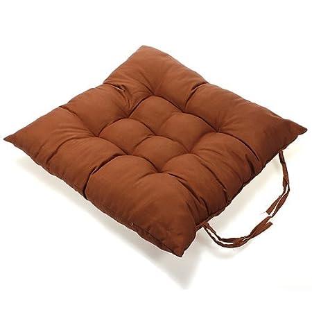 Caomoa double face Fauteuil rembourr/é en peluche chaud Pad carr/é Coton Galette de chaise D/écoration de bureau /à domicile Green 40 40cm