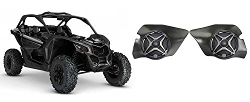 "Can-Am Maverick X3 All-Years 6.5"" SSV Speakers+Front Kick Panel Pod Enclosures"
