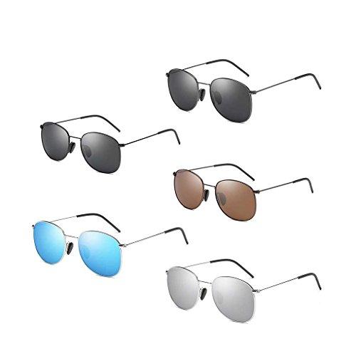 de Conducción Metal de Gafas Ligero Coolsir los 3 Solar polarizadas Sol Hombres Sol de Eyewear de Providethebest Gafas Protector Retro Pesca Frame T5awOggq