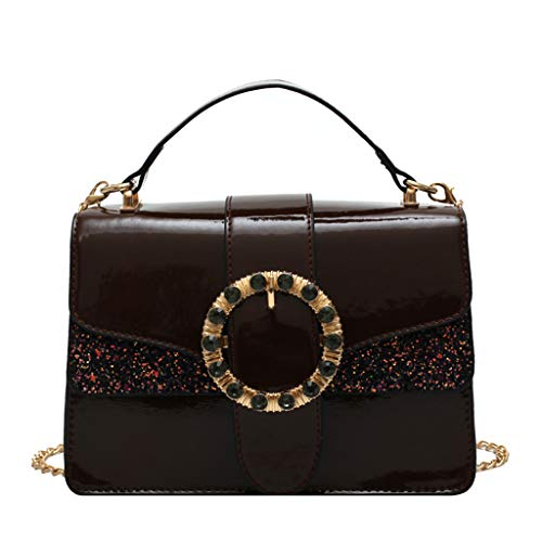 Pengy Woman Leather Bag Sequins Crossbody Bag Shoulder Bags Ladies Hand Bag Messenger Bag