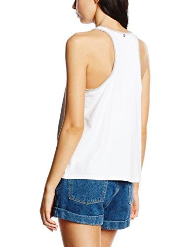 Silvian Heach Singlet Accardo, Camiseta de Tirantes Interiores para Mujer Blanco (WHITE OPTI)