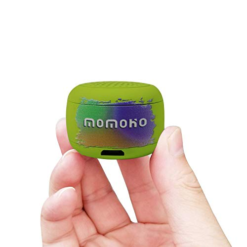 - momoho Mini Bluetooth Speaker - Small Size but Great Sound Quality,Photo Selfie Button & Answer Phone Calls,BTS0011 (Green)