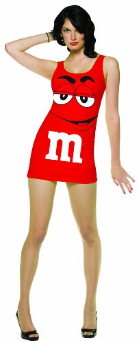 Rasta Imposta M&M's Tank Dress, Red, Adult 4-10]()
