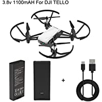 Rucan For DJI Tello Quadcopter Drone Intelligent Flight Battery 1100 mAh 3.8V+USB Charging Cable