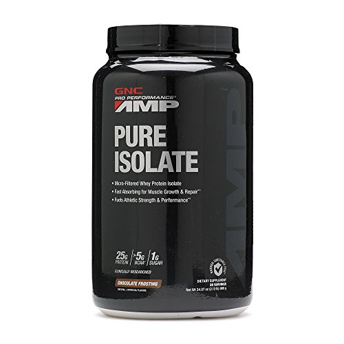 Gnc Protein Whey (GNC Pro Performance AMP Pure Isolate Protein - Chocolate Frosting 2.13)