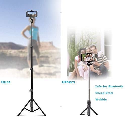 Selfie Stick & Tripod Fugetek, Integrated, Portable All-in-One Professional, Heavy Duty Aluminum, Bluetooth Remote… 7
