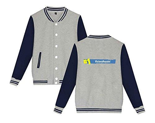 Stampate Moda Giacca Casual Aivosen Unisex Da Sweatshirts Grey7 Comode Leggera Baseball Uomini E Allentato Per Fortnite Donne EItf0qqxcw