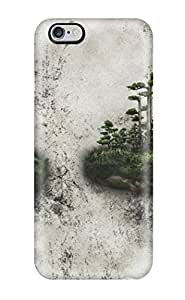 Hard Plastic Iphone 6 Plus Case Back Cover,hot Two Islands On A Wall Case At Perfect Diy