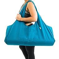 Yogiii Large Yoga Mat Bag   The Original YogiiiTotePRO   Large Yoga Mat Tote Sling Carrier with Side Pocket   Fits Most Size Mats