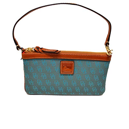 - Dooney and Bourke Lg Slim Wristlet Clutch Turquoise