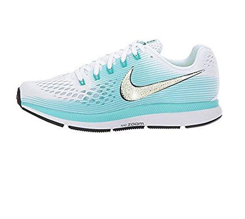 Crystal Blng Nike Air Zoom Pegasus 34 white black aurora green
