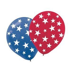 AMSCAN Patriotic Stars Printed 12in Balloons 20ct