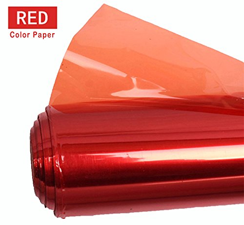 Meking Professional 16×20 Inch Gels Color Filter Paper Correction Gel Lighting Filter for Photo Studio Light Red Head Light Strobe Flashlight – Light Red