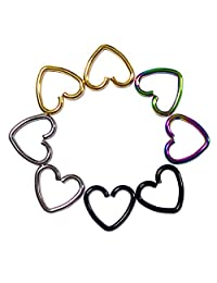 Yodeyhoo Pairs Heart Shape Hoop Earring Cartilage Rook Tragus Earring piercing 16G 4 colors choose