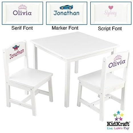 Phenomenal Kidkraft Aspen Table And Chairs Set White Amazon Co Uk Baby Machost Co Dining Chair Design Ideas Machostcouk