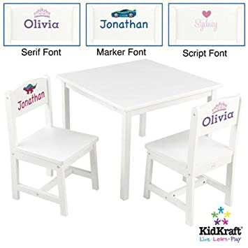 Amazon.com: KidKraft Aspen Table and Chairs Set- White - Heart ...