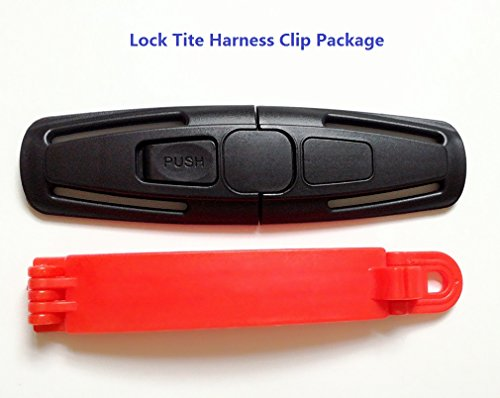 Seat Belt Buckle Lock - Lock Tite Harness Clip and Baby Car Seat Safety Belt Clip Buckle (Package)