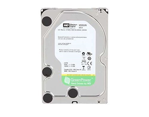 WD 2 TB WD AV-GP SATA III Intellipower 64 MB Cache Bulk/OEM AV Hard Drive WD20EURX (Renewed)