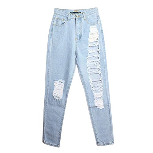 Trou Leggings Grand Denim Cigare Sexy Femme Rv Pantalon Pencil Slim Jeans Jardin q8PZxaqw