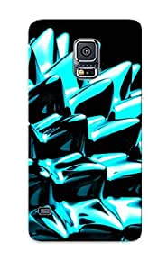 Hot Cppguw-2748-jdxsarc Abstract Glossy Opus Black White Cyan Ivory Cgi Miscellaneous Digital Tpu Case Cover Series Compatible With Galaxy S5