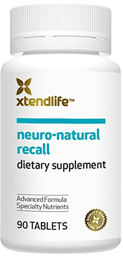 Xtendlife Neuro-Natural Recall Brain Supplement. High Strength Memory Aid with Gotu Kola Extract and Alpha Lipoic Acid (90 Tablets)
