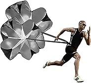Running Speed Training, 2 Umbrella Speed Chute 140cm Running Parachute Soccer Training for Weight Bearing Runn