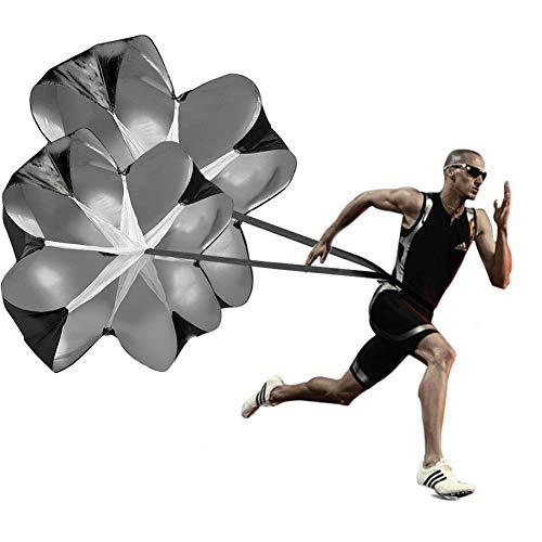 - KUYOU Running Speed Training, 2 Umbrella Speed Chute 56 Inch Running Parachute Soccer Training for Weight Bearing Running and Fitness Core Strength Training