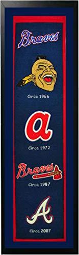 Encore Atlanta Braves Logo History Felt Banner - 14 x 37 Framed Atlanta Braves Heritage Banner