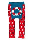 Doodle Pants - Red Lifesaver Leggings - Large