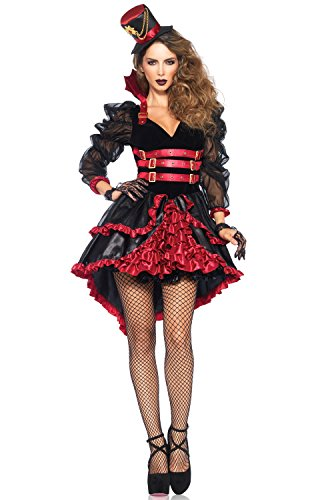 Leg Avenue Women's Victorian Vamp, Black/Burgundy,
