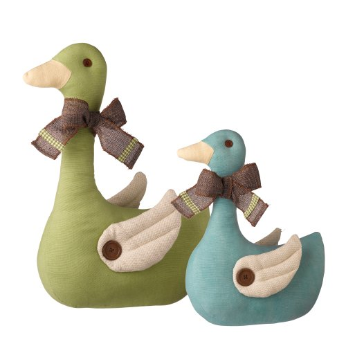 Grasslands Road Spring Meadow Welcoming Duck Doorstopper Assortment, 15-Inch, Set of 4 by Grasslands Road