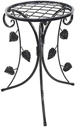 TANGIST 木製 花棚 植物棚 現代の折り畳み式の工場では、メタルブラック屋内プランターホルダーガーデンパティオの装飾展示ハーブ盆栽棚屋外ラック工場ポットスタンド 組み立て式 頑丈
