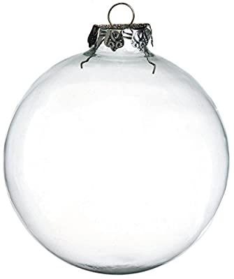 Darice 2-Piece Glass Balls, 100mm, Clear