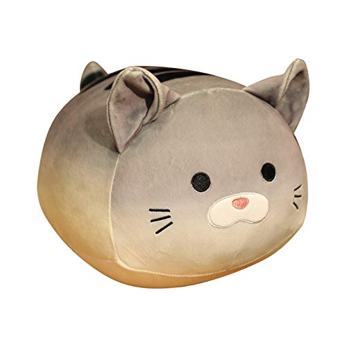 LOadSEcr Stuffed Animal, Plush Toys, Baby Toys, Kids Simulation Bread Cat Shaped Stuffed Doll Plush Toy Sofa Car Decor Girl Gift for Adults or Children Grey