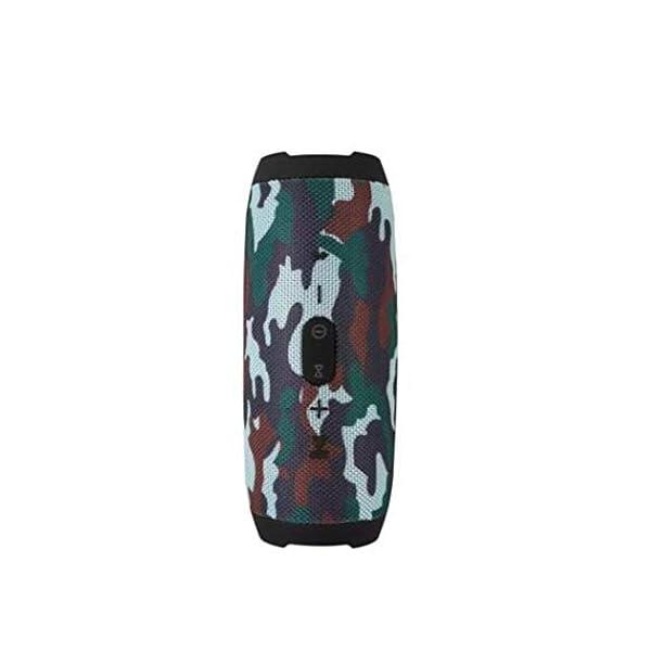 Haut-Parleur Portable Bluetooth étanche Voyage en Plein airRouge sans Fil Audio 213mmx87mm de Subwoofer de Haut-Parleur de Bluetooth de Tissu 7