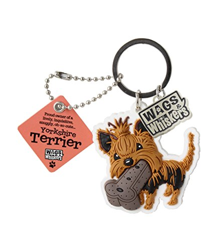 Wags and Whiskers Yorkshire Terrier Key Chain with Keyring/Key Holder (886767110820) ()