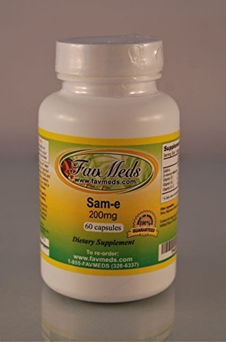 SAM-e, SAMe 200mg, Depression Aid, High Quality, Made in USA - (1 bottle - 60 capsules) by Ameripure Supplements,, Inc. by Ameripure Supplements,, Inc.