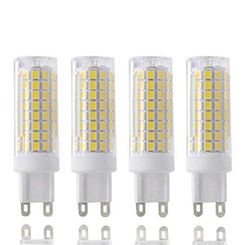 G9 LED 全G9 LED電球 昼光ランプ 8W相当 100Wハロゲン電球 800lm 110v 120v 電圧入力 G9 バイピンベース コーン電球 ホワイト 6000k(4個パック) B07H84PS8M
