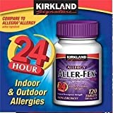 Kirkland Signature Aller-Fex 180 mg – 120 Tablets, Health Care Stuffs