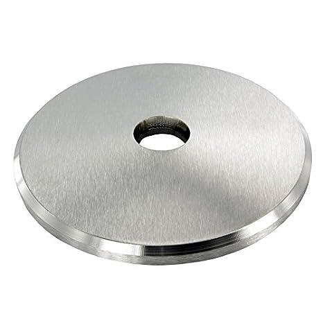 St/ärke 6mm einseitig geschliffen mit Rundschliff Ankerplatte /ø 70mm mit Fase