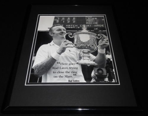 (Rod Laver 1969 Grand Slam Framed 11x14 Photo)