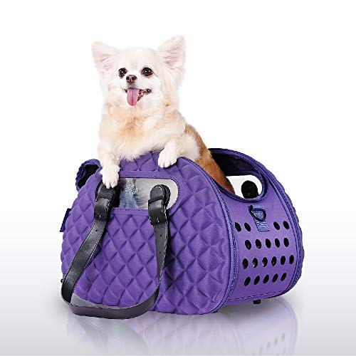 ibiyaya Top and Front Load Airline pet Carrier Bag Under seat for Small Cats and Dogs, a Stylish Alternative to pet Kennel and Dog Purse Products Perfect for Your Plane Trip or a Long Day Out