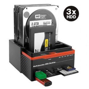 Estació n de carga triple para 3 discos duros de 3,5 y 2,5, doble SATA, caja 1 IDE HD, modelo893U2IS 5y 2 caja 1IDE HD