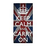 CafePress - Keep Calm And Carry On with Union Jack Beach Towel - Large Beach Towel, Soft 30