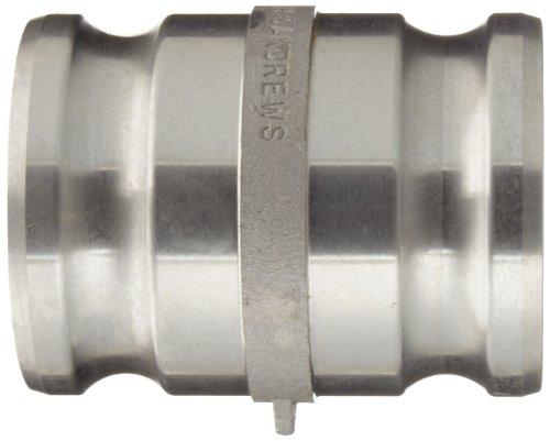 Dixon 300-AA-AL Aluminum Cam and Groove Hose Fitting, Spool Adapter, 3'' Plug by Dixon Valve & Coupling (Image #2)