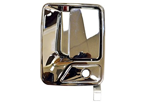 Chrome Handle Excursion Door (PT Auto Warehouse FO-3523M-FL - Outside Exterior Outer Door Handle, Chrome - Driver Side Front)