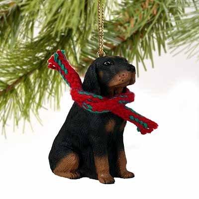Black & Tan Coonhound Miniature Dog Ornament (Coonhound Ornament)