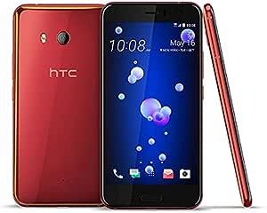 هاتف اتش تي سي يو 11بشريحتي اتصال - ذاكرة 128 جيجا بايت، رام 6 جيجا بايت، يدعم شبكات الجيل الرابع ال تي اي، لون احمر ناري